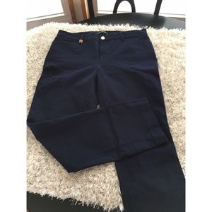 Navy Blue Straight Leg Pants by Ralph Lauren Sz 12